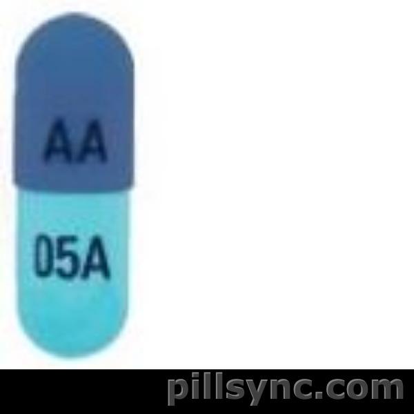 CAPSULE BLUE AA 05A metyrosine capsule