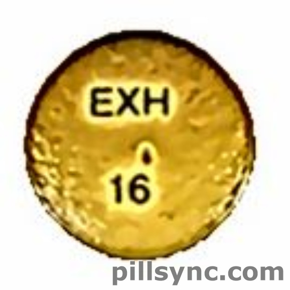 ROUND YELLOW EXH 16 24 HR Hydromorphone Hydrochloride 16 MG Extended Release Oral Tablet
